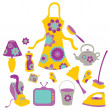 Housewife accessories icon set - Stock Vector