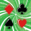 Royalty-Free Stock Векторное изображение: Gambling cards signs set