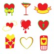 Love icons — Vector de stock #12221857