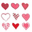 Beautifull hearts icon set — Stock Vector #12221858