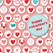 Royalty-Free Stock Vektorfiler: Valentine\'s Day pattern