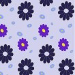 Retro abstract floral Pattern — Stock Vector