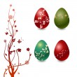 Royalty-Free Stock Vector Image: Easter Eggs with floral elements