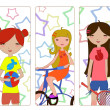 Little girls — Stock Vector