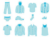 Clothing and Accessories Icons — Vector de stock