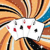 Gambling cards — Stock Vector