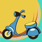 смешные скутер — Cтоковый вектор
