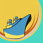 Little ship — Stock Vector