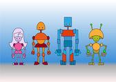 Robots family — Stock Vector