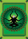 Indian woman — Stock Vector