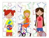 Petites filles — Vecteur