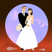 Beautiful couple — Stock Vector