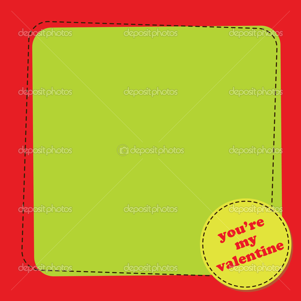 Vector illustration of Valentine's Day background with a blank spase for your text. — ベクター素材ストック #12221874