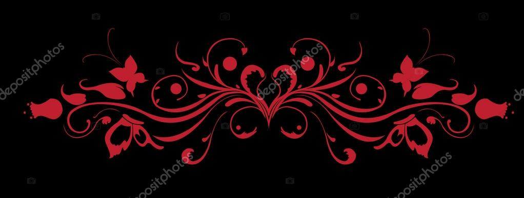 Vector Illuctration of floral pattern. Design elements of  Decorative ornament. Good for Valentine's Day card and Wedding invitation — Stock Vector #12223018