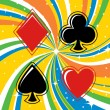 Royalty-Free Stock Imagen vectorial: Gambling cards signs set