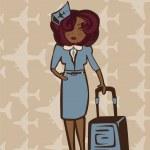 Stewardess — Stock Vector #12417303