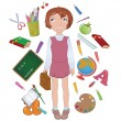 School girl — Stock Vector