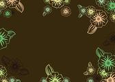 Marco floral — Vector de stock