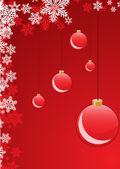 Bolas de navidad rojo — Vector de stock