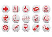 Medecine buttons — Stock Vector