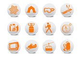 Camping or ski buttons — Stock Vector