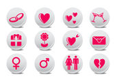 Love buttons — Stock Vector
