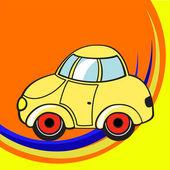 Little funky car — Stock Vector