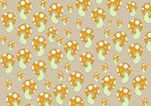 Mushrooms patterns — Stock Vector
