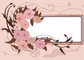 Blumenrahmen — Stockvektor