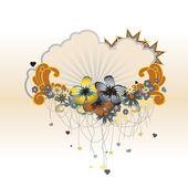 Floral grens — Stockvector