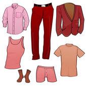 Men clothes icons — Stock Vector