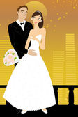Beautiful couple — Stock Vector