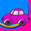 Little funky car — Stock Vector