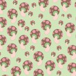 Mushrooms patterns - Stock Vector