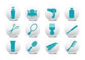 Hairdressing salon buttons — Stock Vector