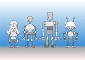 ロボット家族 — ストックベクタ