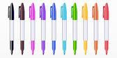 Ensemble de marqueurs de couleur — Vecteur