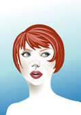 Redhead woman — Stock Vector