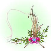 Abstraktní květinový okraj — Stock vektor