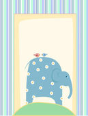 Funny elephant background — Stock Vector