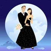 Hermosa pareja — Vector de stock