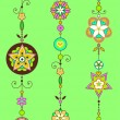 Stock Vector: Decorative Wind Chimes
