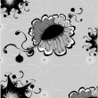 Funky  flowers abstract pattern - Imagens vectoriais em stock