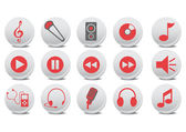Audio buttons — Stock Vector