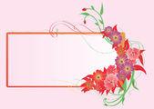 çerçeve çiçek — Stok Vektör