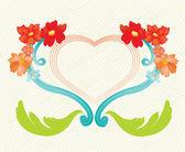 花卉帧 — 图库矢量图片