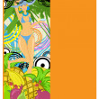 Tropical girl - Stock Vector