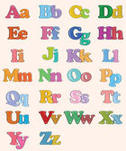 Colour alphabet — Stock Vector