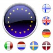 Round buttons set-europe - Stock Vector