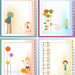 Greeting card set - Stock Vector
